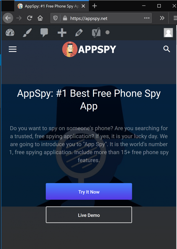 Step 3: Mobile Spy Website