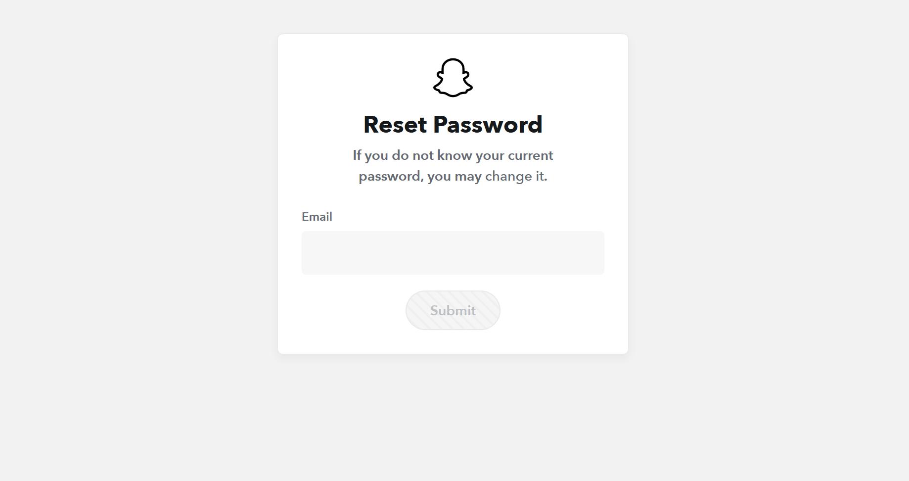 Snapchat Forgot Password